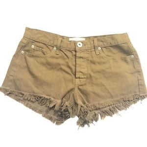 Band of Gypsies Sz 30 NEW Frayed Bootie Tan Shorts